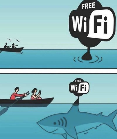 Wifi bad, Shark bad