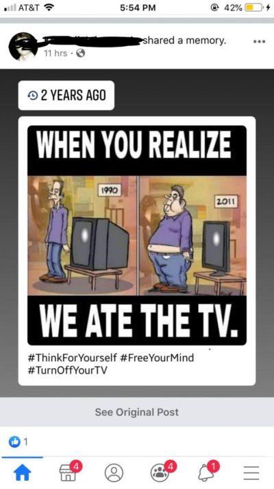 Tv BAD!