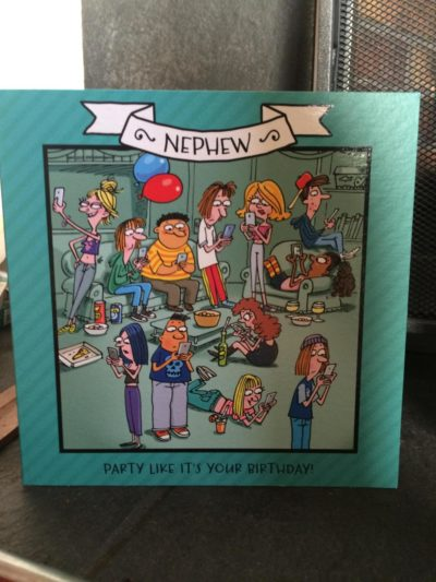 a card i got for my birthday yesterday..