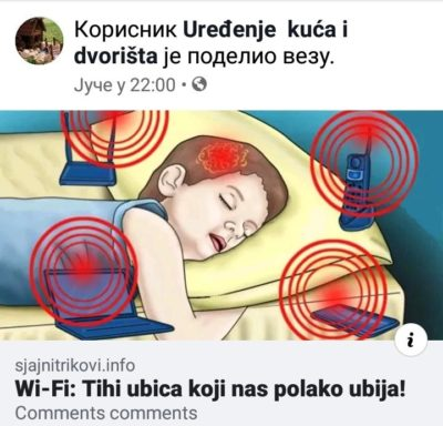 "Don't know if this counts, my mom just sent it to me. ""Wi-Fi: the silent killer that slowly kills us"""