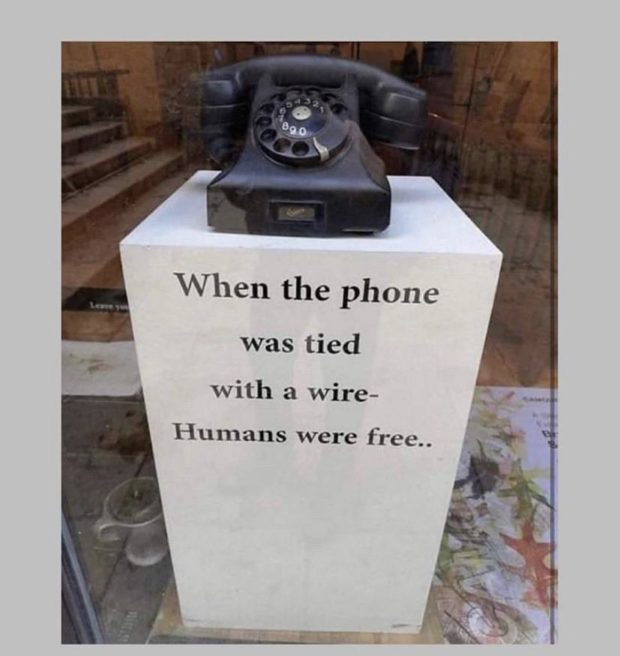 When the phone was tied with a wire- Humans were free. . https://inspirational.ly
