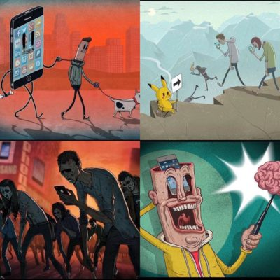 We are all stupid, zombie slaves to the phone. And Pikachu.