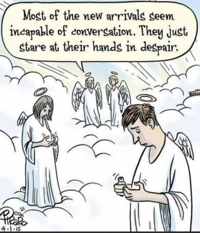 No phones in heaven