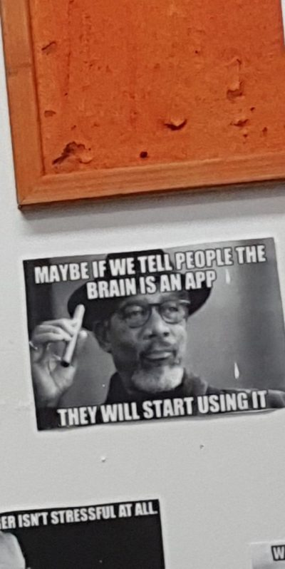 Just one of the many memes my managers took the time to print out and put on the wall of our staff room.