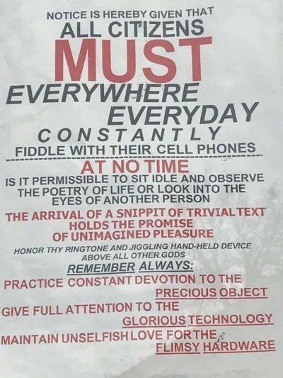 Phones = brainwashing