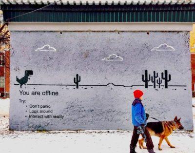 Interesting graffiti in Yekaterinburg, Russia.