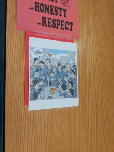 This was on the door of my COMPUTER SCIENCE teacher