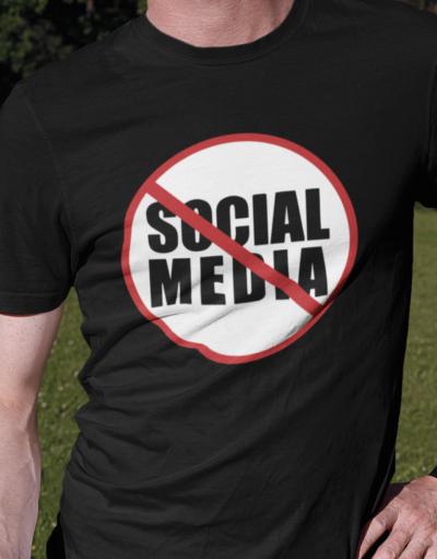 Anti Social Media Sign