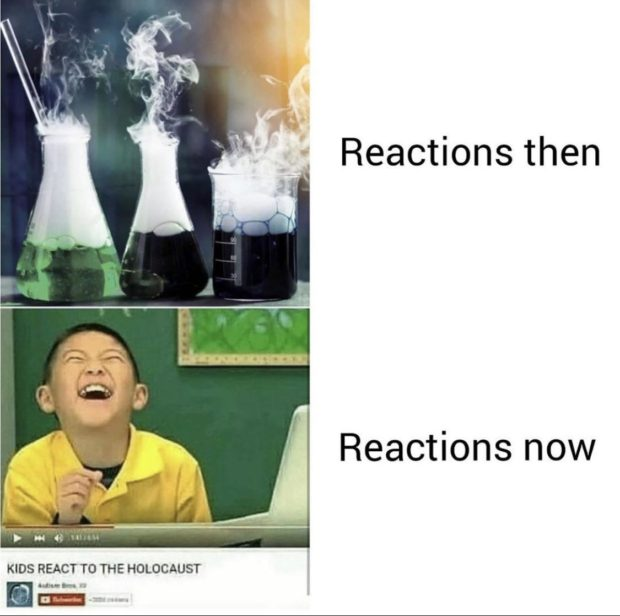 """Reacflonsthen Reactions now """" p .3. a; ..... -.'. KIDS REACT TO THE HOLOCAUST 5.40 'W it""""s .  E12: https://inspirational.ly"""
