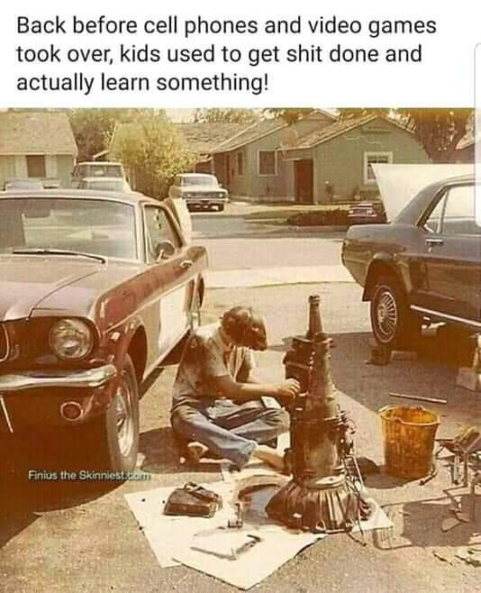 Back before cell phones and video games took over, kids used to get shit done and actually learn something! https://inspirational.ly