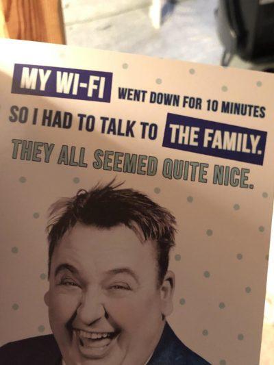 the card my dad got my 20yr old brother for his birthday today