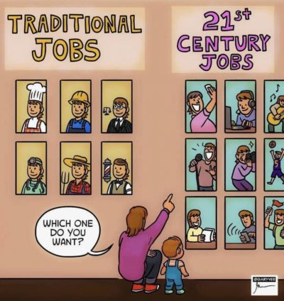 Phones ruin traditional jobs