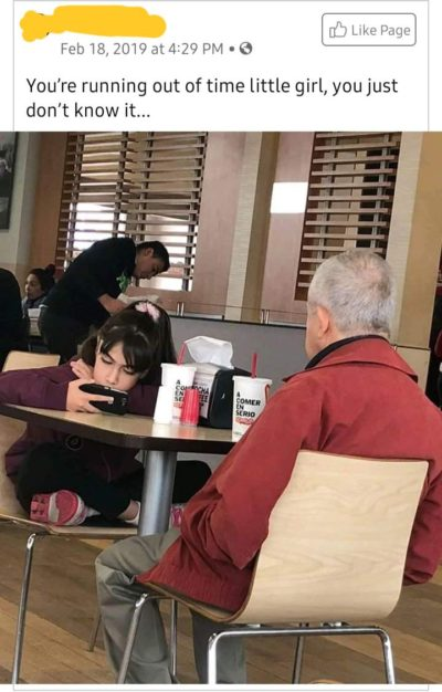 phones=bad, food and grandpa=good
