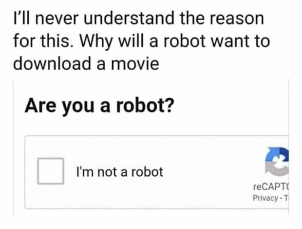 I'll never understand the reason for this. Why will a robot want to download a movie Are you a robot? F! reCAPT( Privacy - T I'm not https://inspirational.ly