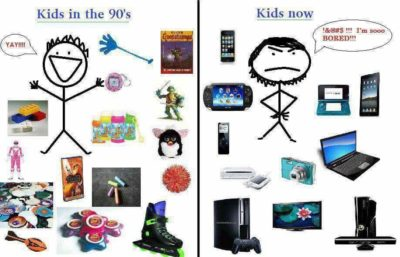 90' kid = power rangers. Kids now: no power rangers.