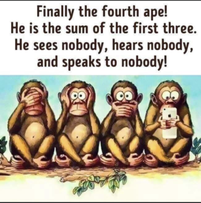 Monkey good, phone bad