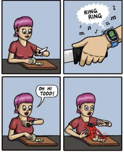 Smart phones + Smart watch = dumb decisions