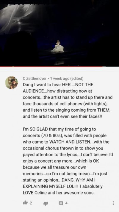 Dude.. just let people sing at concerts.