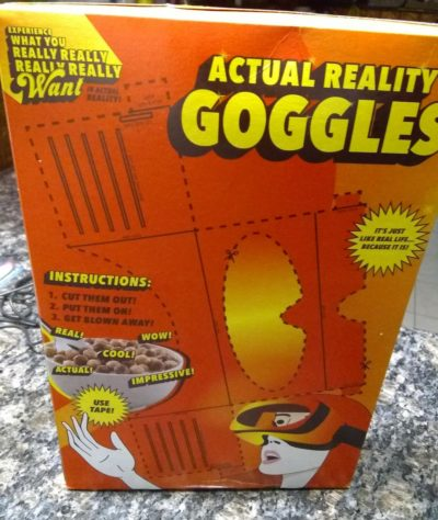 Cereal good. Virtual reality bad.