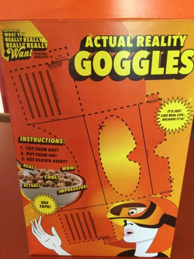 Virtual reality bad, cereal box good