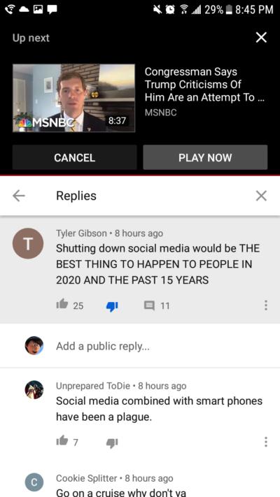 Shut down social media