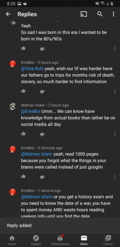 Google bad Book good