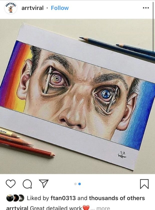 """arrtviral - Follow QQV - N """"'3 Liked by ftan0313 and thousands of others arrtviral Great detailed work""""... more https://inspirational.ly"""