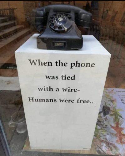 Old phones good new phones bad