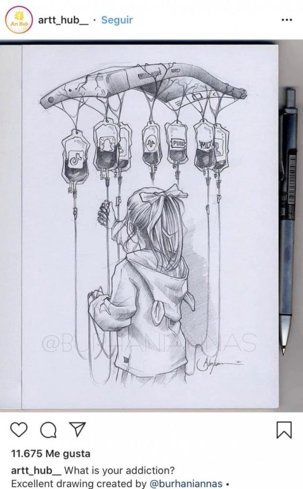 artt_hub_ - Seguir 11.675 Me gusta artt_hub_ What is your addiction? Excellent drawing created by @burhaniannas . https://inspirational.ly
