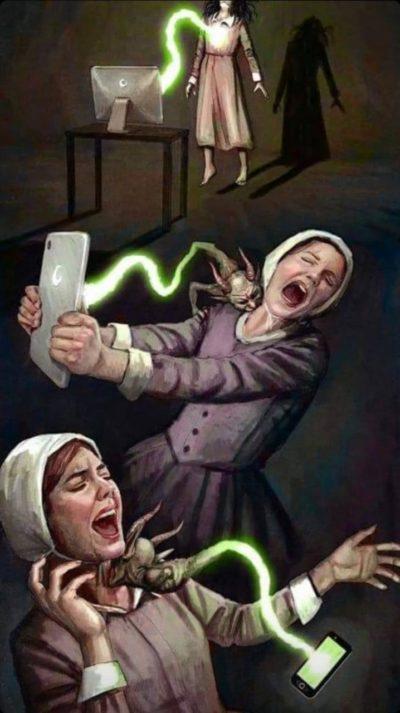 Phones vampirize amish