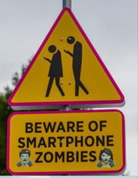 Smart phone zombie