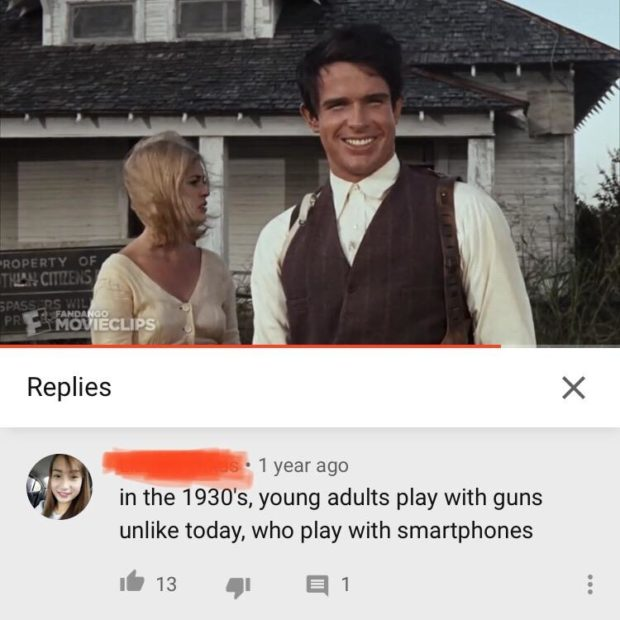 Replies X - 1 year ago ' ' ' in the 1930's, young adults play with guns unlike today, who play with smartphones ifi 13 gi Q1 https://inspirational.ly