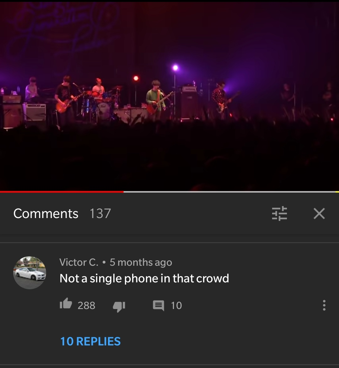 On a video of a live jrock band.